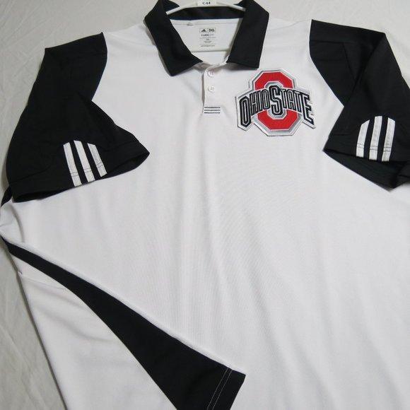 3XL White Adidas Mens db Polyester #C44 Golf Polo
